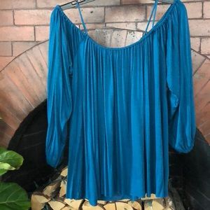 NWT Anthropologie Off the Shoulder Shirt XS